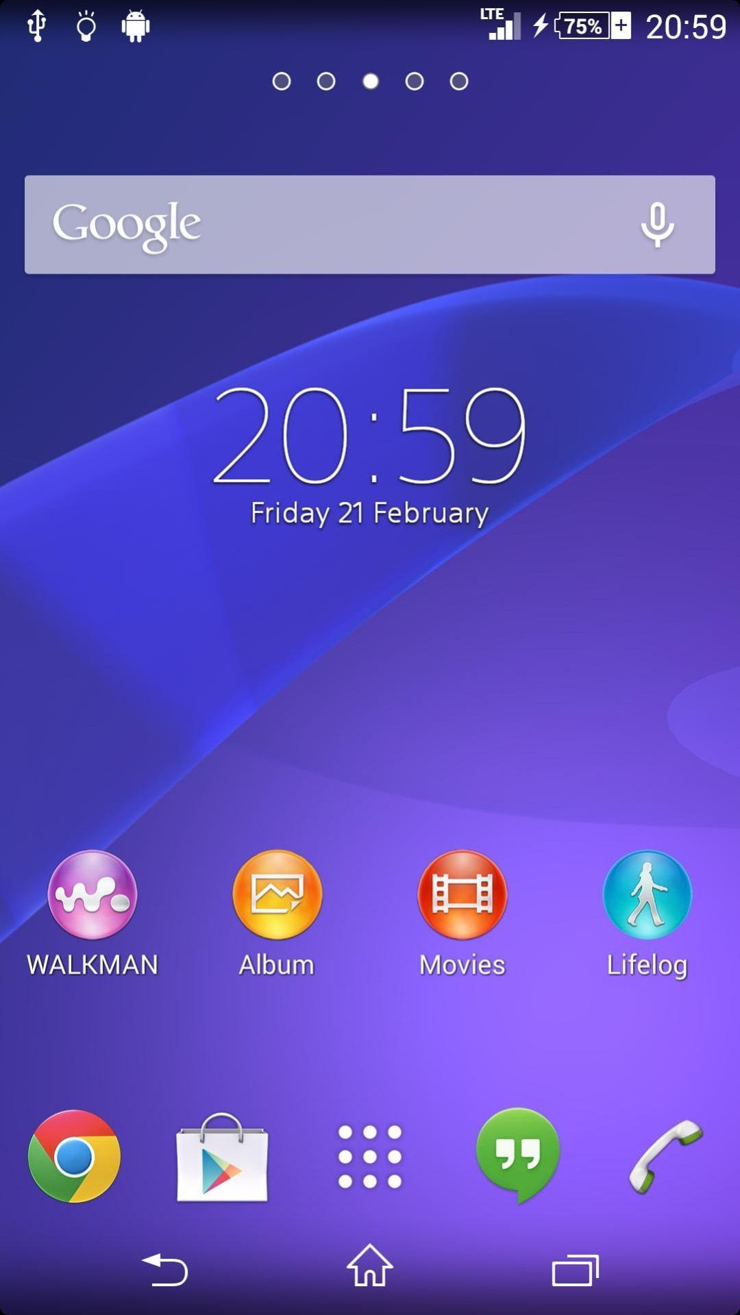 Sony Xperia Sirius UI