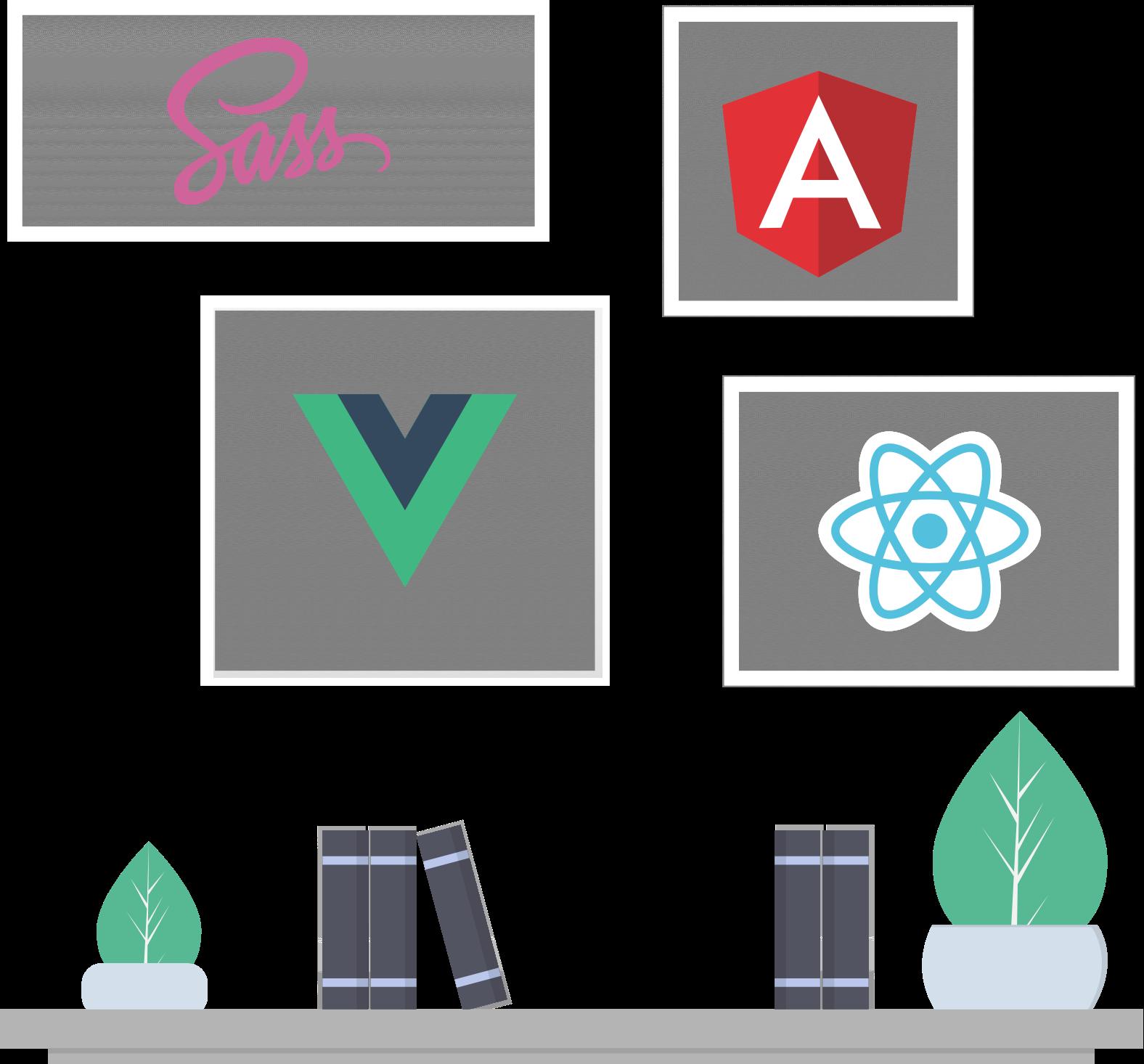 Tools and Frameworks Illustration