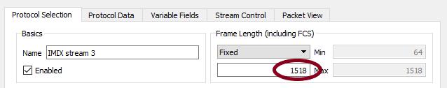 IMIX stream #3 - 1518 bytes