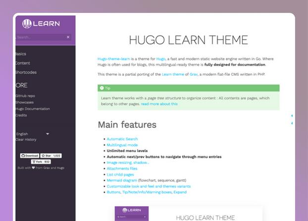 Hugo Learn Theme- cover
