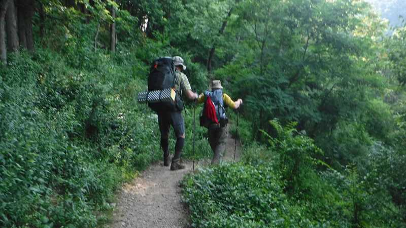 Returning to the trail at Harpers Ferry