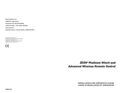 Zeon Platinum Manual