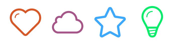 Screenshot of icon sprite demo