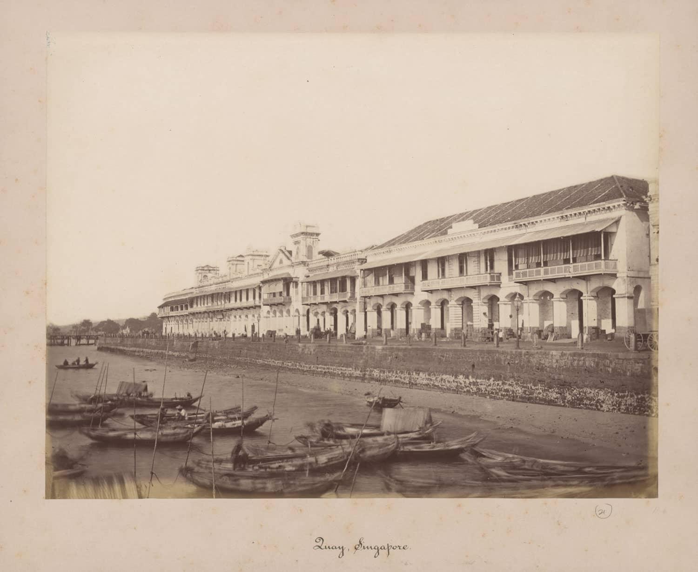 Collyer Quay, 1880s