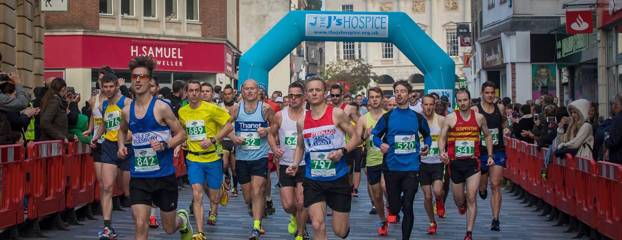 Start of the 2016 Chelmsford Marathon