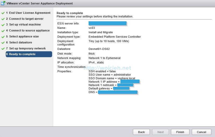 Upgrade vCenter Server Appliance from version 5 to version 6 - 13