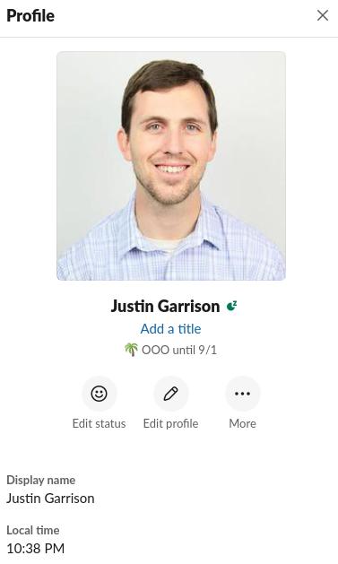 slack profile picture for Justin Garrison