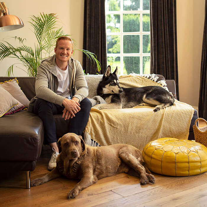 Meet Greg Rutherford, Murphy and Gus