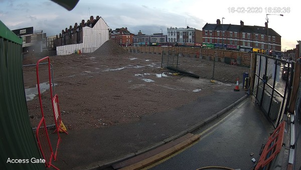 Building Site Access Gate CCTV