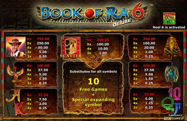 book of ra 6 deluxe novoline slot bild auszahlungstabelle