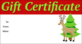 Gift Certificate Template Christmas 10