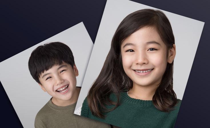Printed Image of siblings