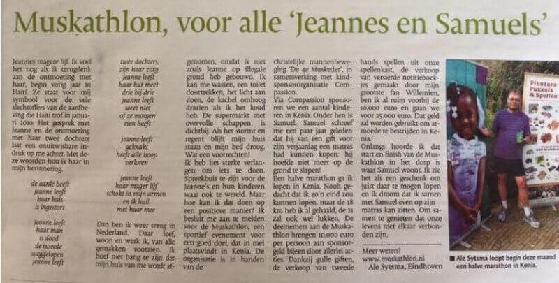 Eindhovens Dagblad 1 mei 2015