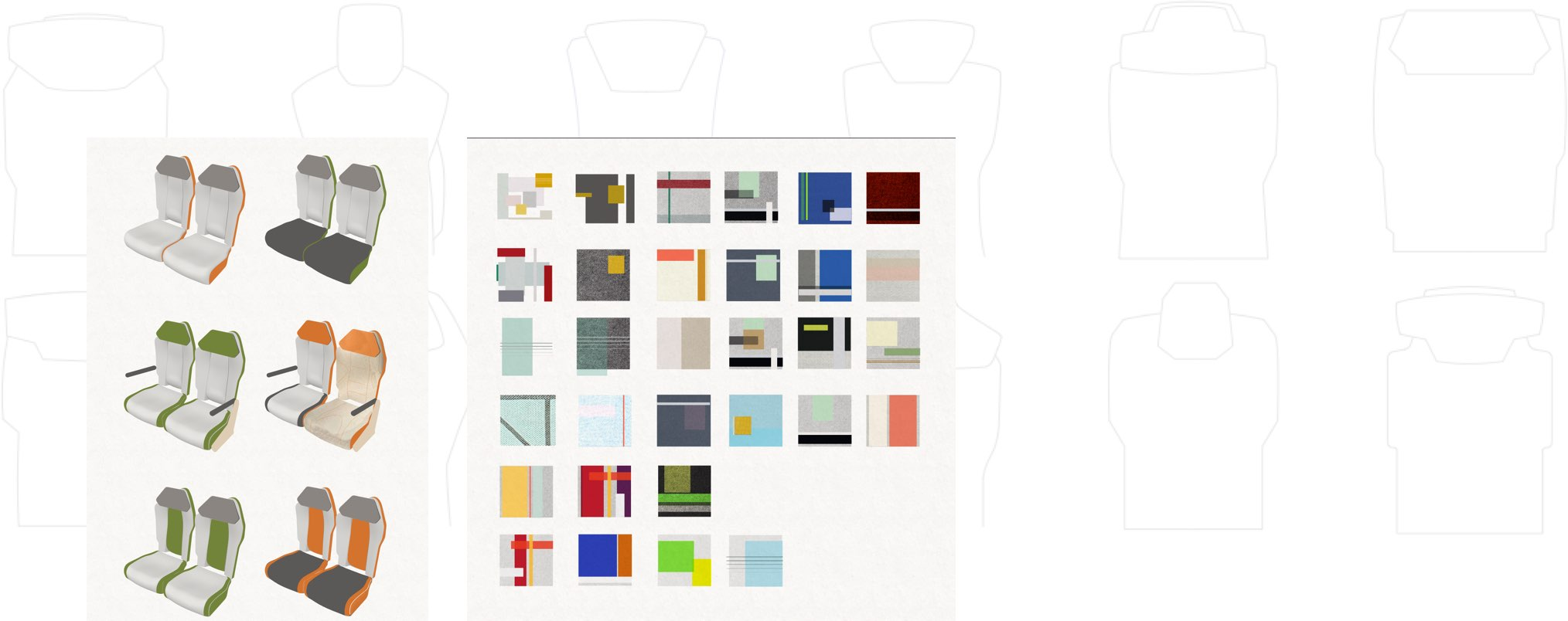 Collection of shape and colour alternatives