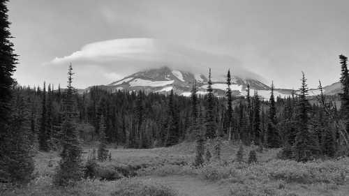 Lenticular cloud over Mt. Adams