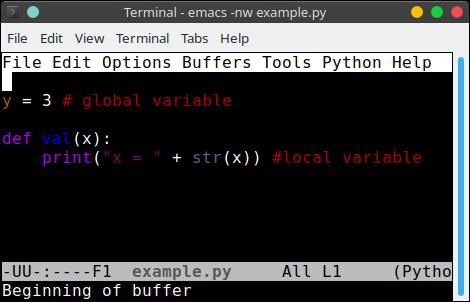 python global variables scope