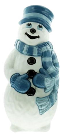 Snowman with Blue Scarf photo