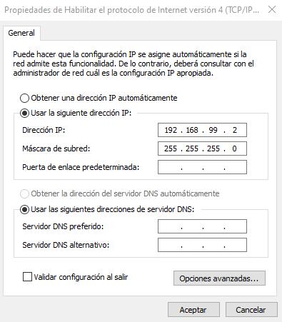 configuracion IPv4