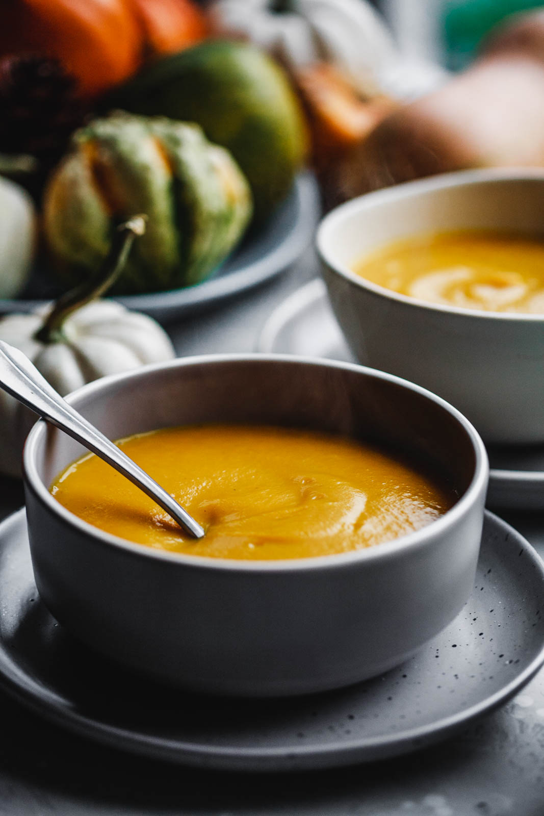 Classic Butternut Soup With Spiced Whipped Cream