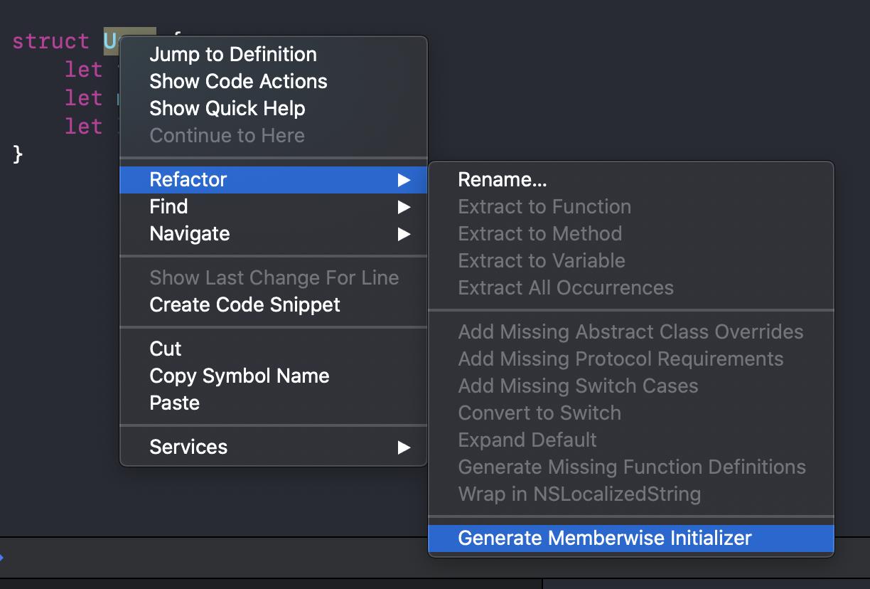 Generate memberwise initializer