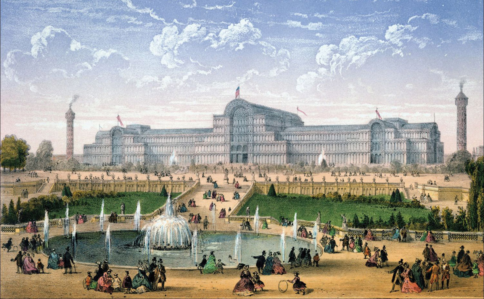 vintage postcard images of crystal palace