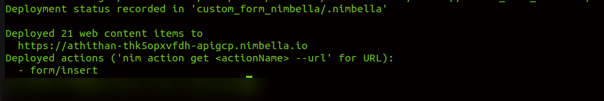 Deploy in Nimbella with nim CLI