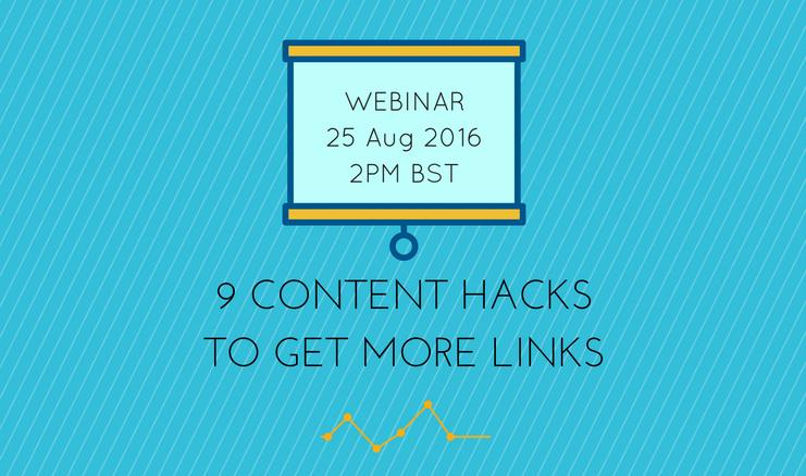 Webinar Invitation: 9 Content Hacks to Get More Links
