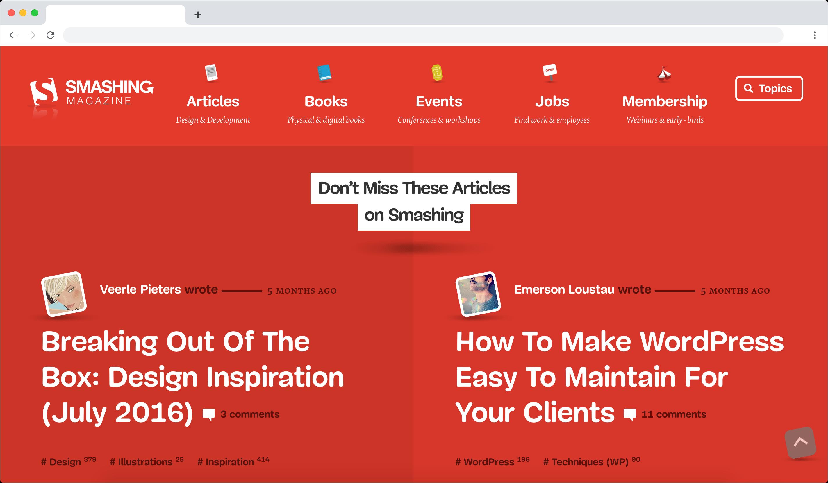 Smashing Magazine project screenshot.