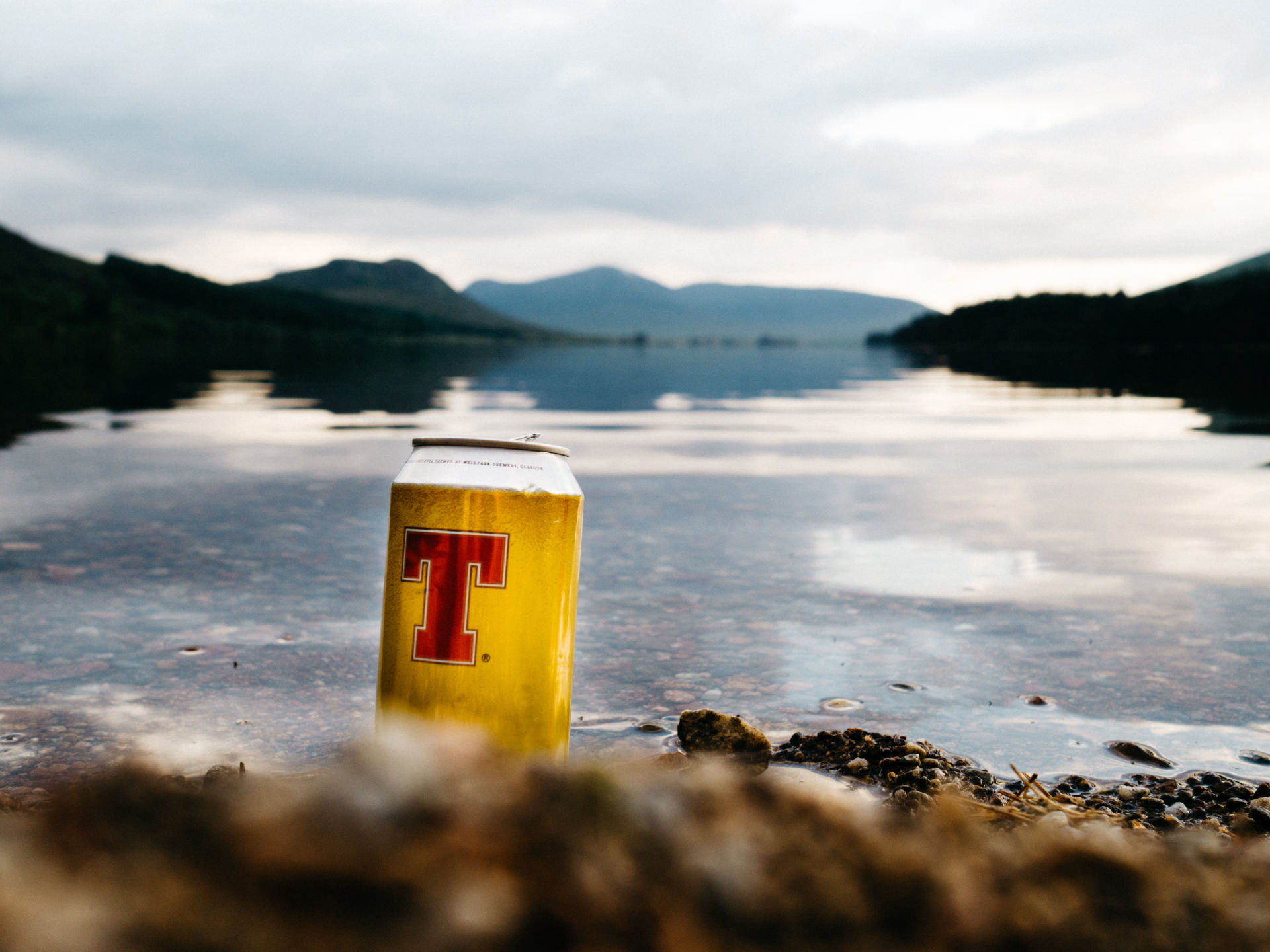 Cold Cans at Loch Ossian
