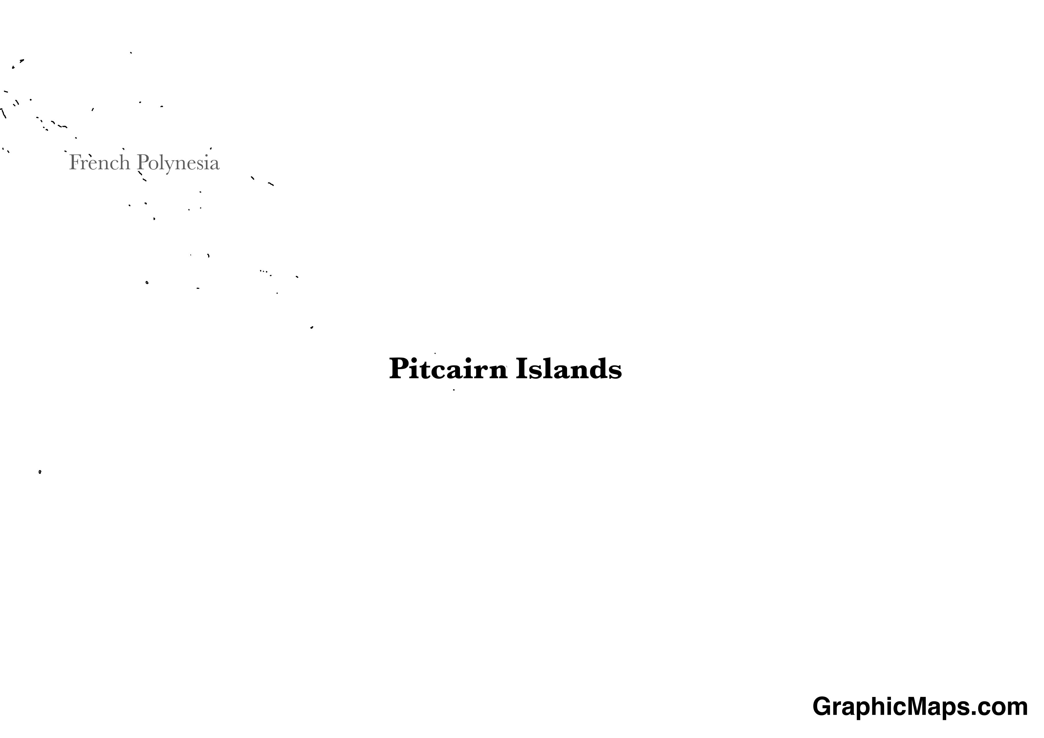 Map showing the location of Pitcairn
