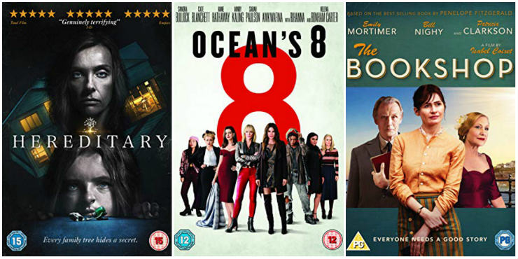 Hereditary, Ocean's 8, The Bookshop
