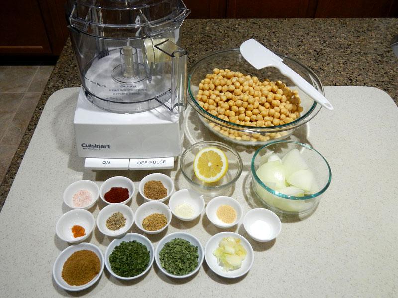 Baked Falafel Setup