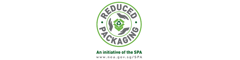 Logo for Products with Reduced Packaging