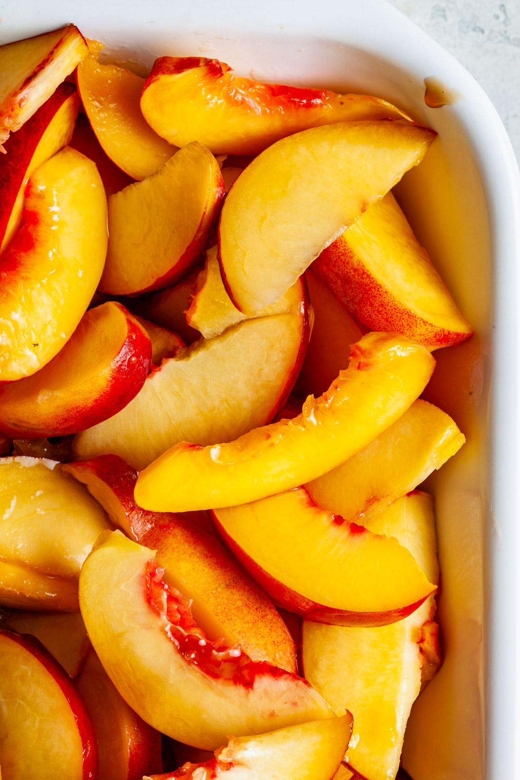 Peach and Nectarine Pecan Sandy Crumble
