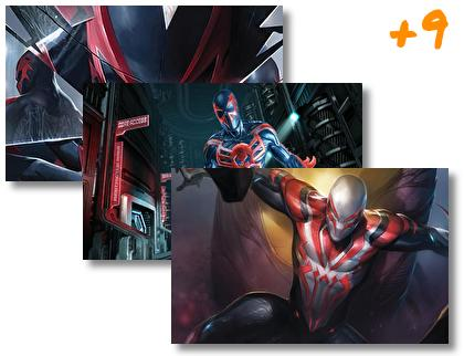 Spider Man 2099 theme pack