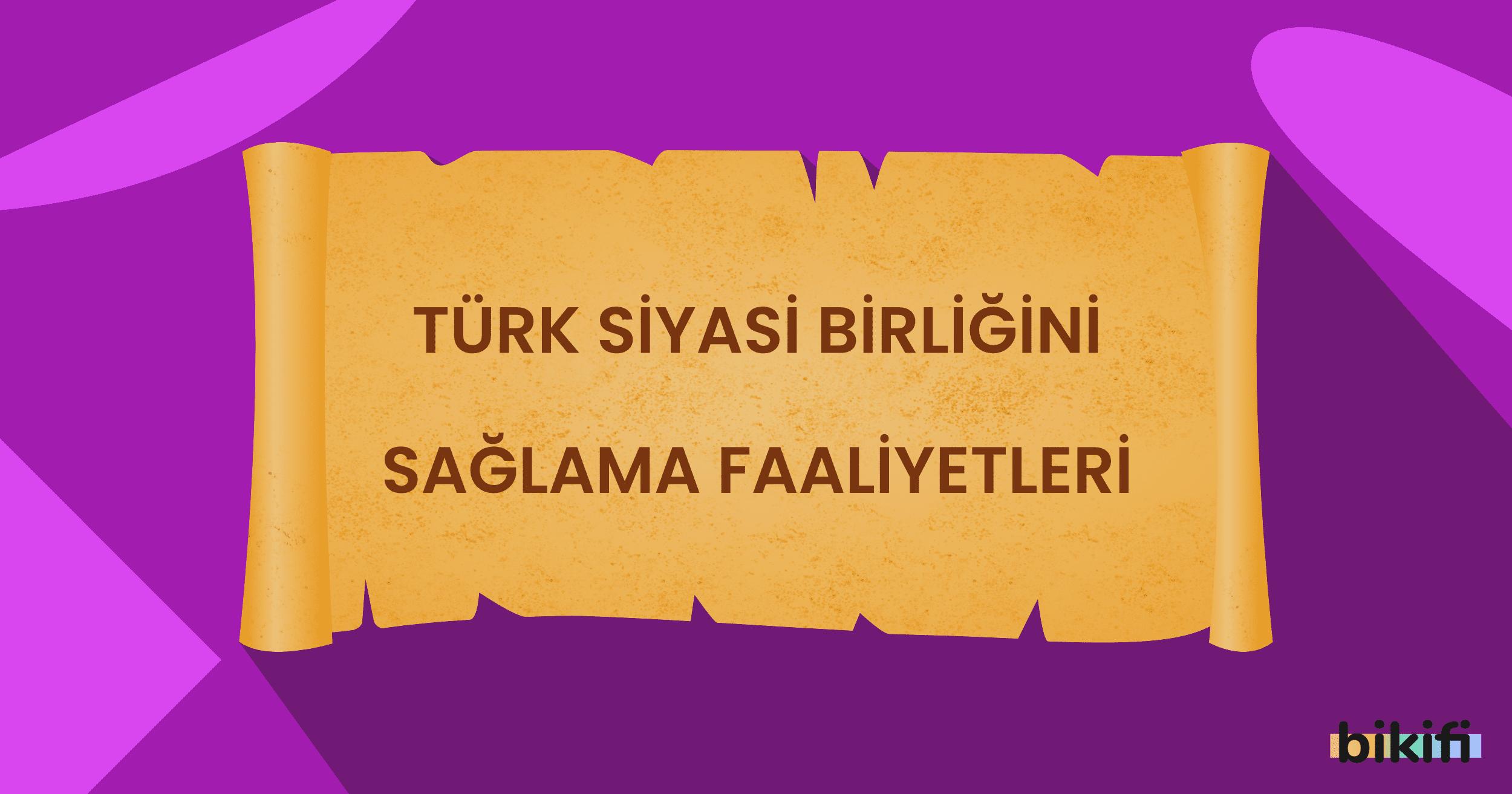 Türk Siyasi Birliğini Sağlama Faaliyetleri