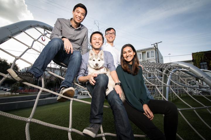 Slab team (left to right) James Hsi, Jason Chen, Chengyin Liu, and Anvisha Pai