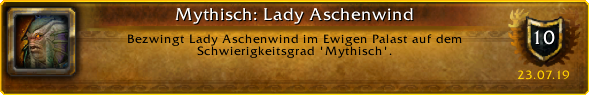 Lady Ashvane mythic achievement