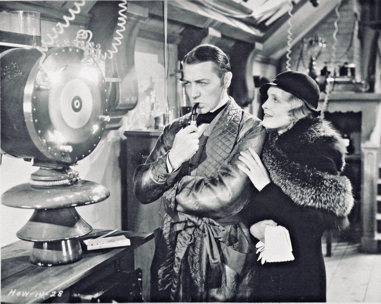 Клайв Брук и Мириам Джордан в фильме «Шерлок Холмс». Режиссер Уильям К. Ховард, 1932 год. Источник: imdb.com