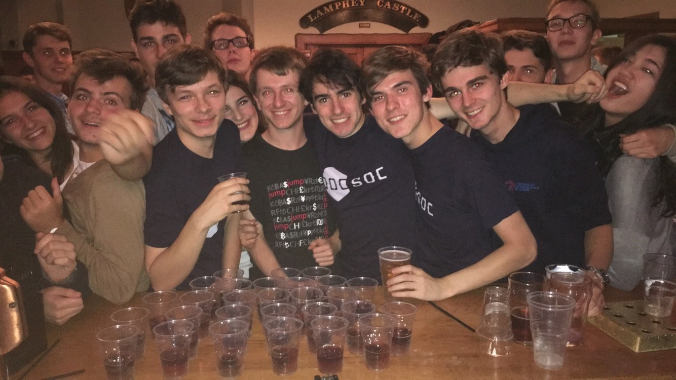 Traditional DoCSoc Jaegerbombs