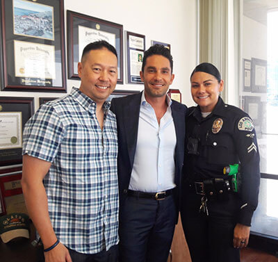 Bobby and LAPD Officers