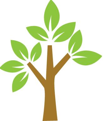 Desenho de uma árvore simples