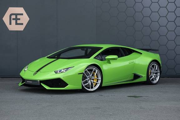 Lamborghini Huracan 5.2 V10 LP610-4 Blue Eye + Groen Gewrapt + Carbon Spoiler + Stoelverwarming + Achteruitrijcamera