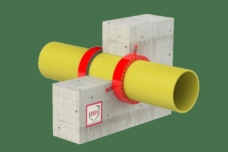 Protupožarno brtvljenje gorivih cijevi i negorivih cijevi s gorivom izolacijom - FS Collar
