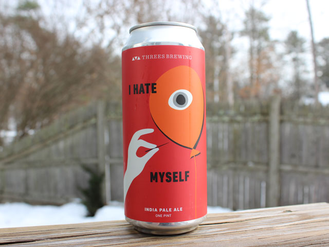 I Hate Myself, a IPA brewed by Threes Brewing