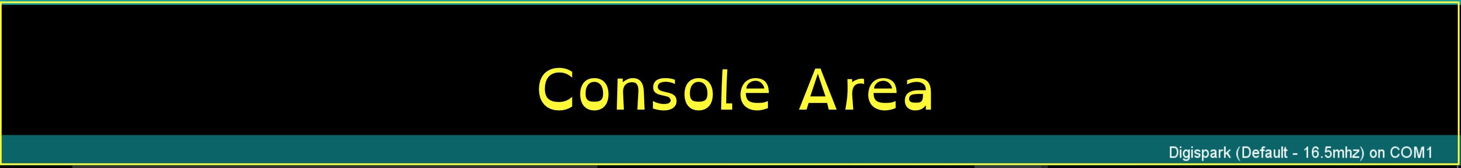 Console area