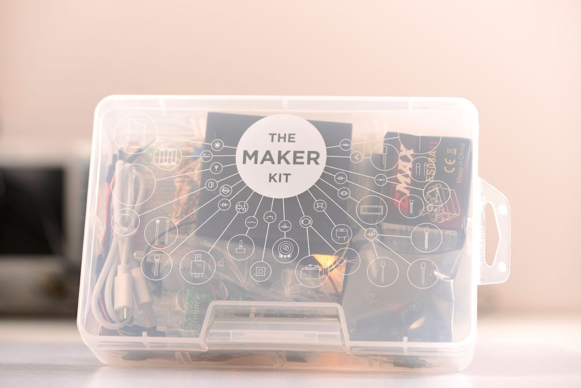 The Maker Kit packaging
