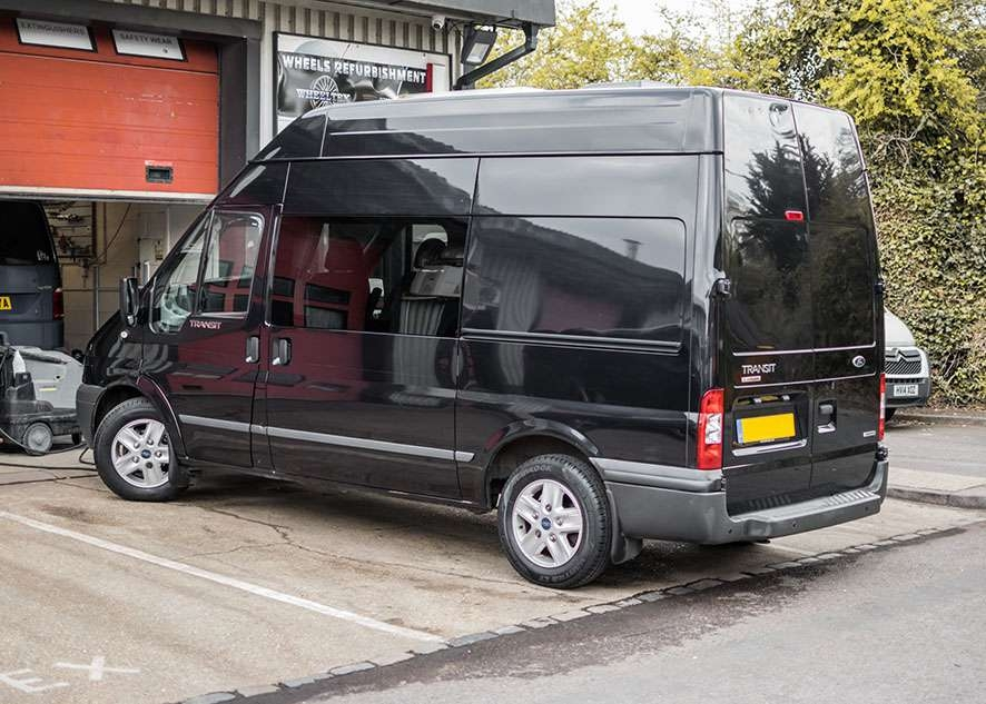 Ford Transit van with poor/bad/dull paintwork before paint correction