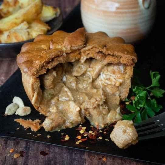 Gluten-Free Chip Shop Chicken Curry Pie