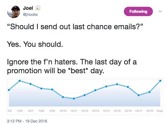 Joel Hooks Twitter about haters
